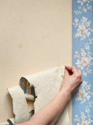Wallpaper removal by JPS Painting.