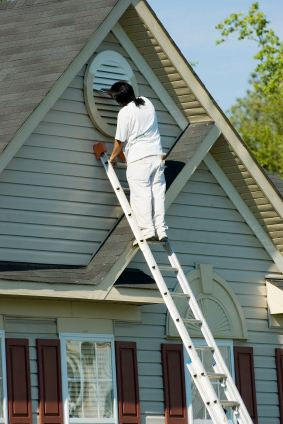 Exterior Painting being performed by an experienced JPS Painting painter.
