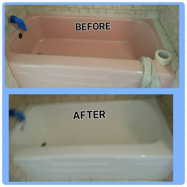 Before and After Bathtub Reglazing